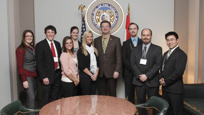 Members of Athletic Training Students Association (ATSA) at Missouri state capitol.